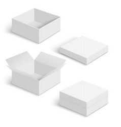 White square box templates set vector image