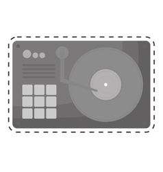Turntable music icon image vector