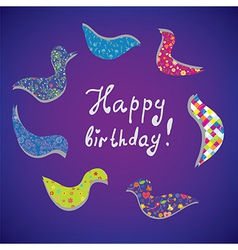 Greeting card for birthday vector