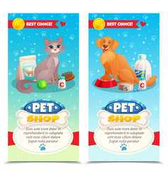 pet shop vertical banners vector image