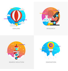 Flat designed concepts - colored 7 vector