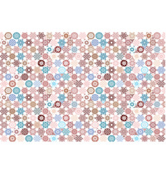 Seamless ceramic tile with colorful patchwork vector