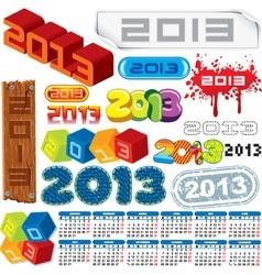 2013 logo collection and calendar vector