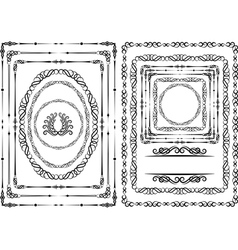 Borders and frames vector
