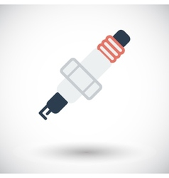 Sparkplug single icon vector