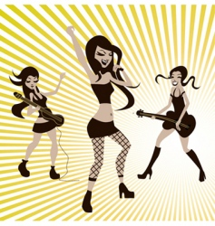 girls playing music vector image