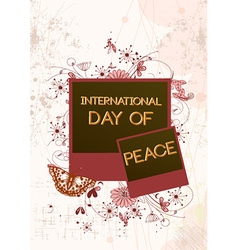 International day of peace with photo frame vector