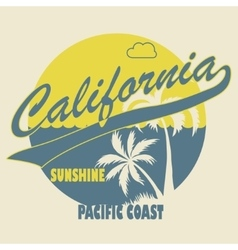 California typographic t-shirt fashion design - vector