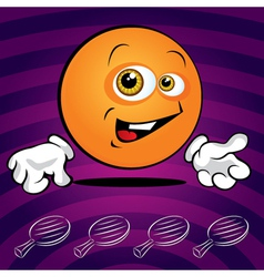 Smiling ping pong ball vector