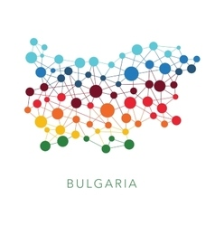 Dotted texture bulgaria background vector