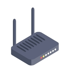 Isometric wi-fi modem router isolated vector