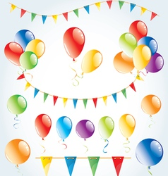 Party decoration set vector