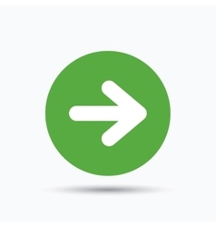 Arrow icon next navigation sign vector