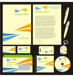 company stationery templates vector image