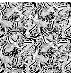 Abstract hand-drawn seamless pattern vector image vector image