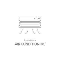Air conditioning service logotype design templates vector