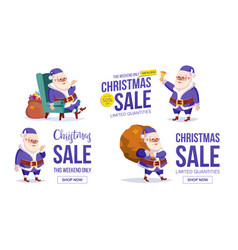 big christmas sale banner template with happy vector image vector image