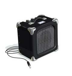 black guitar combo amplifier vector image vector image