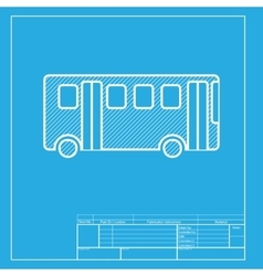 Bus simple sign White section of icon on vector image vector image