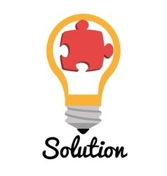 Business solutions with icons vector image vector image