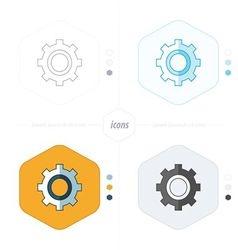 Cog Settings Icon Symbol 4 design vector image