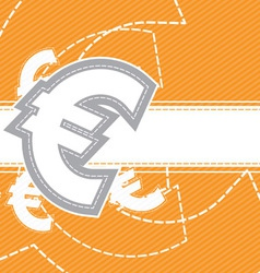euro moey icon background vector image vector image
