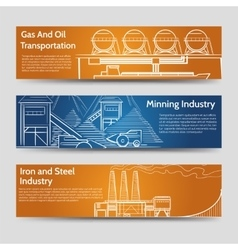 factory industrial landscape horizontal banners vector image vector image