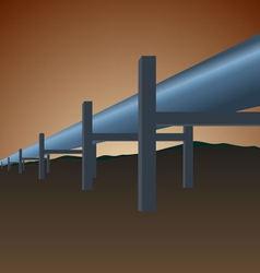 Gas pipe vector