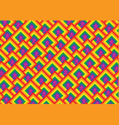gay pride flag pattern vector image vector image