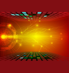 Gear abstract red background technology concept vector