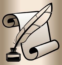 Handwritten accessories vector image vector image