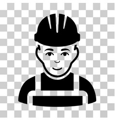 Happy mechanic icon vector