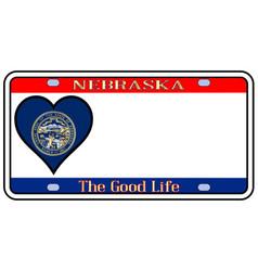 Nebraska license plate vector