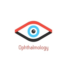 ophthalmology logotype with eye from ribbons vector image vector image