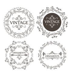 ornamental borders design vector image