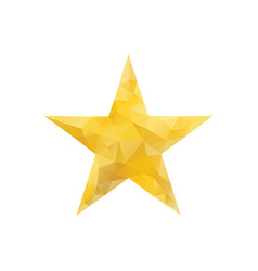 polygonal gold star isolated vector image vector image