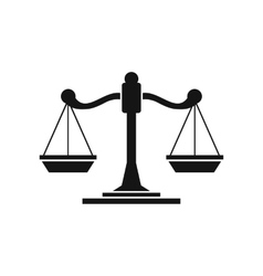Scales of justice icon simple style vector image