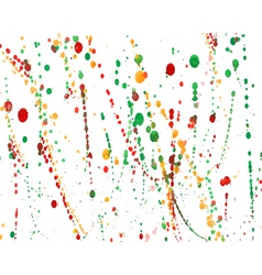 Set of colorful watercolor hand painted splashes vector