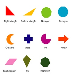 Shapes chart for kids vector