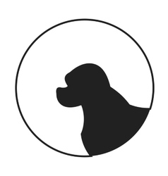 Silhouette of a dog head spaniel vector image
