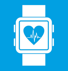 smartwatch icon white vector image