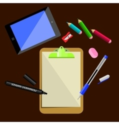 Stationery office supplies vector image vector image