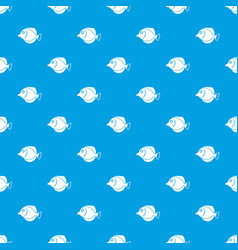 Tang fish zebrasoma flavescens pattern seamless vector