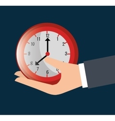 Timeclock watch icon vector image