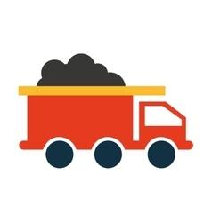 Truck mining transport icon vector