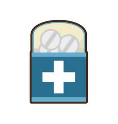 Medicine pill pharmacy package box vector