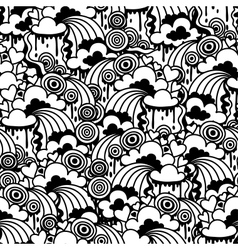 Seamless pattern with abstract doodles vector image
