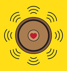 Love heart speaker vector