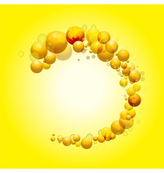3d sphere border on yellow background vector