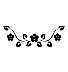 Element with flowers vector